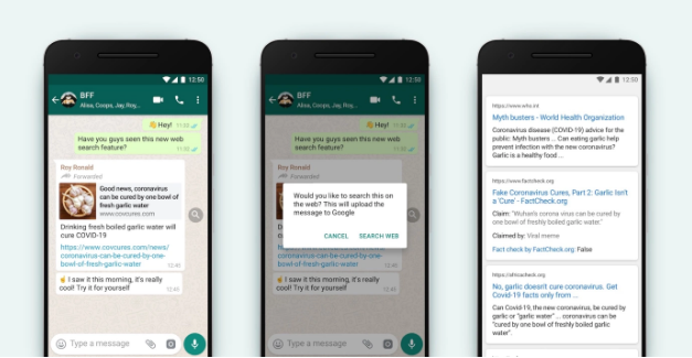 WhatsApp New Update Will Allow You Search The Web To Fight FakeNews - Ravzgadget