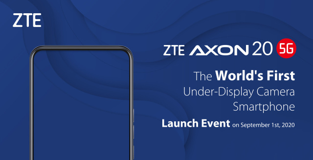 ZTE's Axon 20 5G Phone Comes With The First Under-Display Camera - Ravzgadget