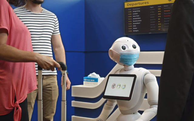 Pepper The Robot Will Politely Suggest You Wear A Mask - Ravzgadget