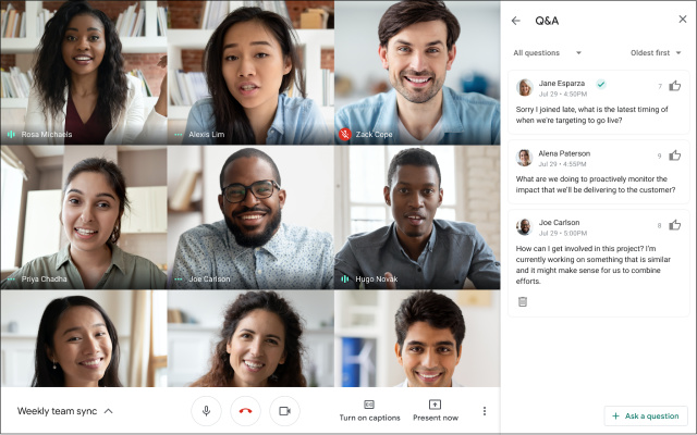 Google Meet Includes Q&A And Poll Features For Paid Packages - Ravzgadget