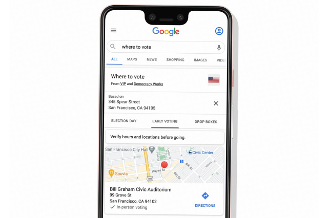 Google Search Can Now Show Voters Where To Vote Or Drop Off Ballot - Ravzgadget