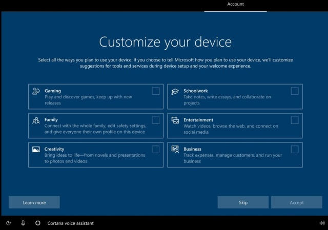 Microsoft Is Working On A Windows 10 Setup Screen That Asks Your Plan - Ravzgadget