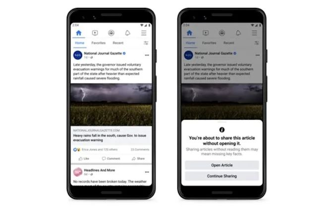 Facebook Is Testing A Feature That Asks You To Read Article Before Sharing - Ravzgadget